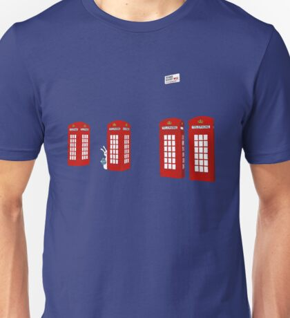 Easter bunny and telephone boxes Unisex T-Shirt