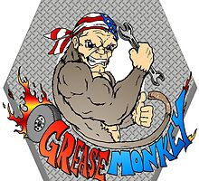 Grease Monkey Logo by Skree