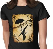 Under the umbrella of dance Womens Fitted T-Shirt