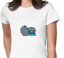 Happy Sneakers Womens Fitted T-Shirt