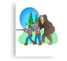 Hunting Bigfoot Canvas Print