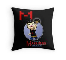 The Legend of Markiplier Saving Tiny Box Tim Throw Pillow