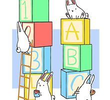 Bunnies and Blocks  by mjfitz