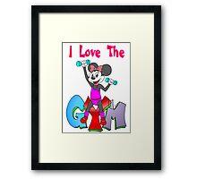 Minnie Workout Framed Print