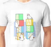 Bunnies and Blocks  Unisex T-Shirt