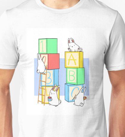 Bunnies and Blocks  Unisex T-Shirt
