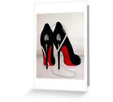Heels and Pearls Greeting Card