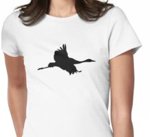 Crane bird Womens Fitted T-Shirt
