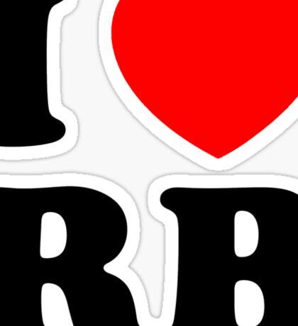 i heart RB Sticker