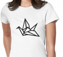 Origami crane Womens Fitted T-Shirt