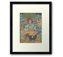 Shiva Gives Discourse on Yoga Framed Print