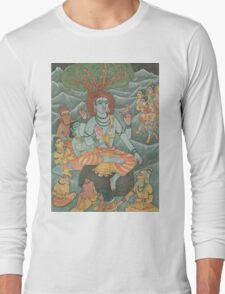 Shiva Gives Discourse on Yoga Long Sleeve T-Shirt