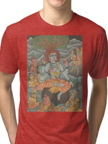 Shiva Gives Discourse on Yoga Tri-blend T-Shirt