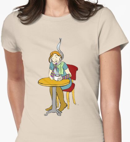 Cafe Womens Fitted T-Shirt