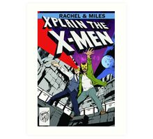 Rachel and Miles X-Plain the X-Men Art Print