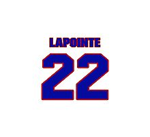 National Hockey player Martin Lapointe jersey 22 Photographic Print