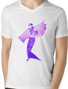 Asia Welcome Mens V-Neck T-Shirt