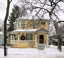 Yellow House in Winter by Kathleen Brant
