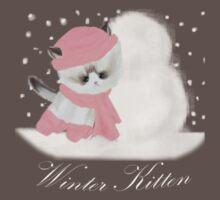 Winter Kitten One Piece - Short Sleeve