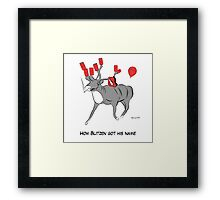 Blitzen the Christmas Reindeer Framed Print