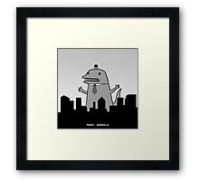 Fancy Godzilla Framed Print