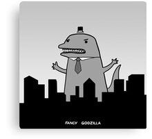 Fancy Godzilla Canvas Print