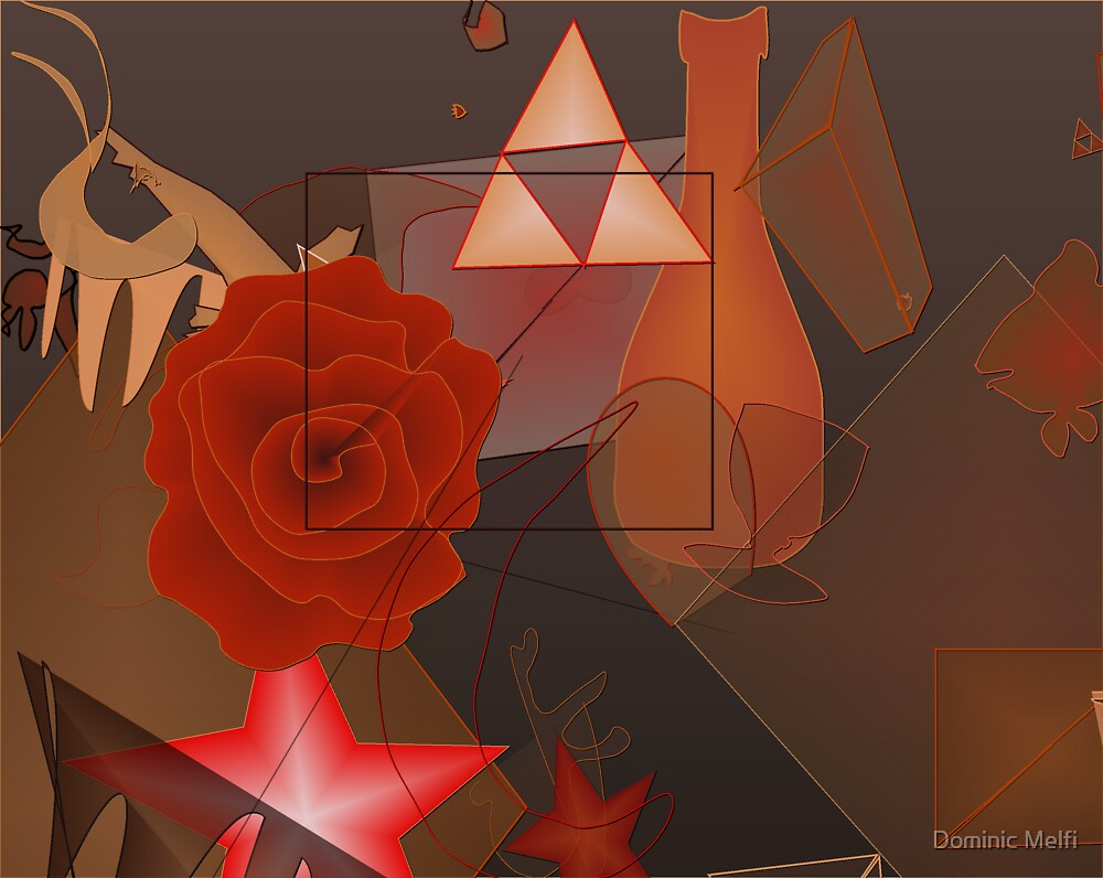 Tawny Rose abstract by Dominic Melfi