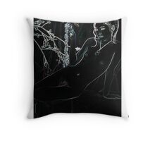 Lovely Flora and Beautiful Laura Throw Pillow