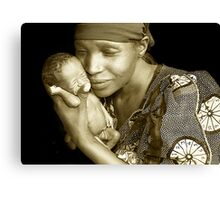 'Mother and child' Northern Rwanda. By Rebecca Zachariah & Melinda Kerr Canvas Print