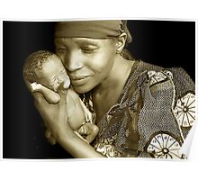 'Mother and child' Northern Rwanda. By Rebecca Zachariah & Melinda Kerr Poster
