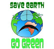 Save the Earth Photographic Print