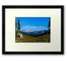 Country mountain view Framed Print