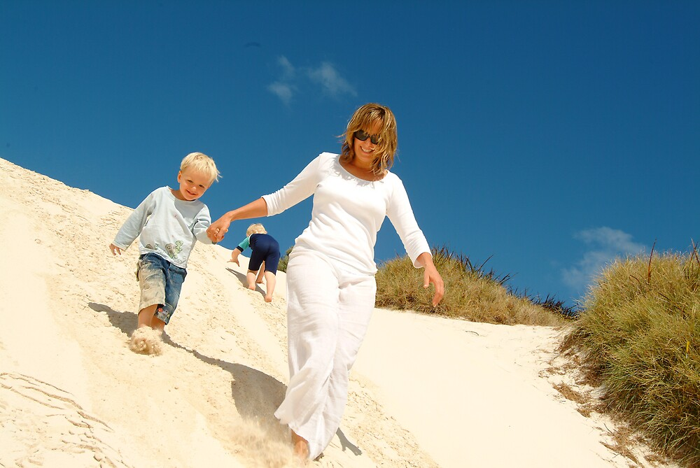 sand dune summer fun on Rottnest Island by nick page