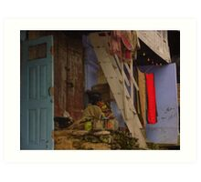 Shop in the mountains Art Print
