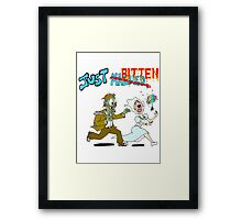 Zombies Just Married Framed Print