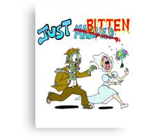 Zombies Just Married Canvas Print