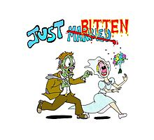 Zombies Just Married Photographic Print