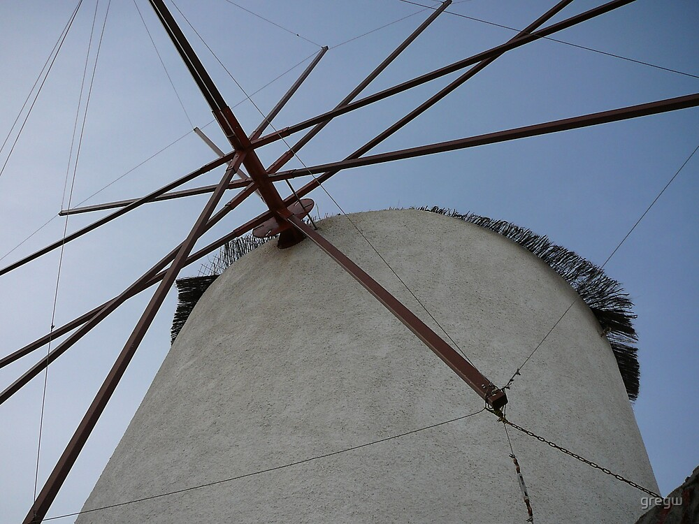 Windmill Santorini by gregw