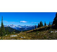 Meadow mountain View  Photographic Print