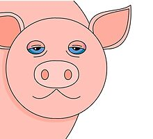 PIG PORTRAIT by Jean Gregory  Evans