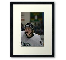 Ice Hockey Player - Concentration Framed Print