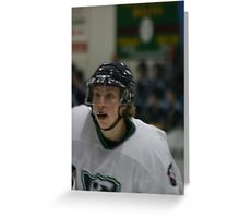 Ice Hockey Player - Concentration Greeting Card