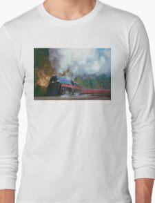 N&W #611 Climbs Christiansburg Mountain Grade - Shawsville, VA Long Sleeve T-Shirt
