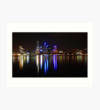Perth The City Of Lights Art Print