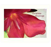 """Oleander """"Christmas Greetings"""" ~ Greeting Card Art Print"""