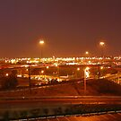 Highway at night in Toronto by Els Steutel