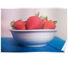 Vibrant strawberries, food photography Poster