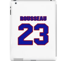 National Hockey player Roland Rousseau jersey 23 iPad Case/Skin