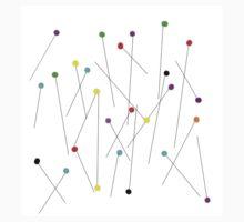 COLOR HEAD SEWING PINS art Kids Tee