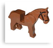Toy Brick Horse Canvas Print